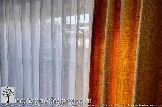 detalle cortina tablas amarilla con caídas
