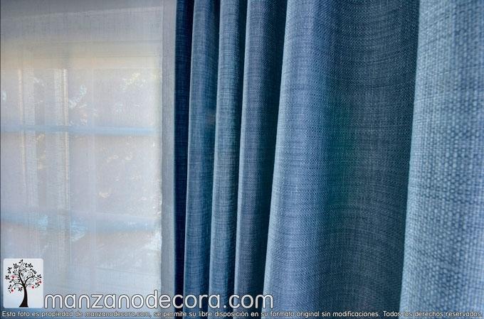 detalle cortinas dormitorio de matrimonio