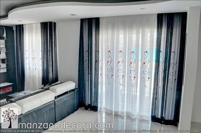 cortinas en salones con encanto