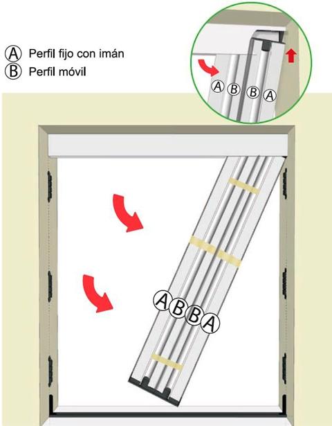 paso cinco instalacion mosquitera plisada
