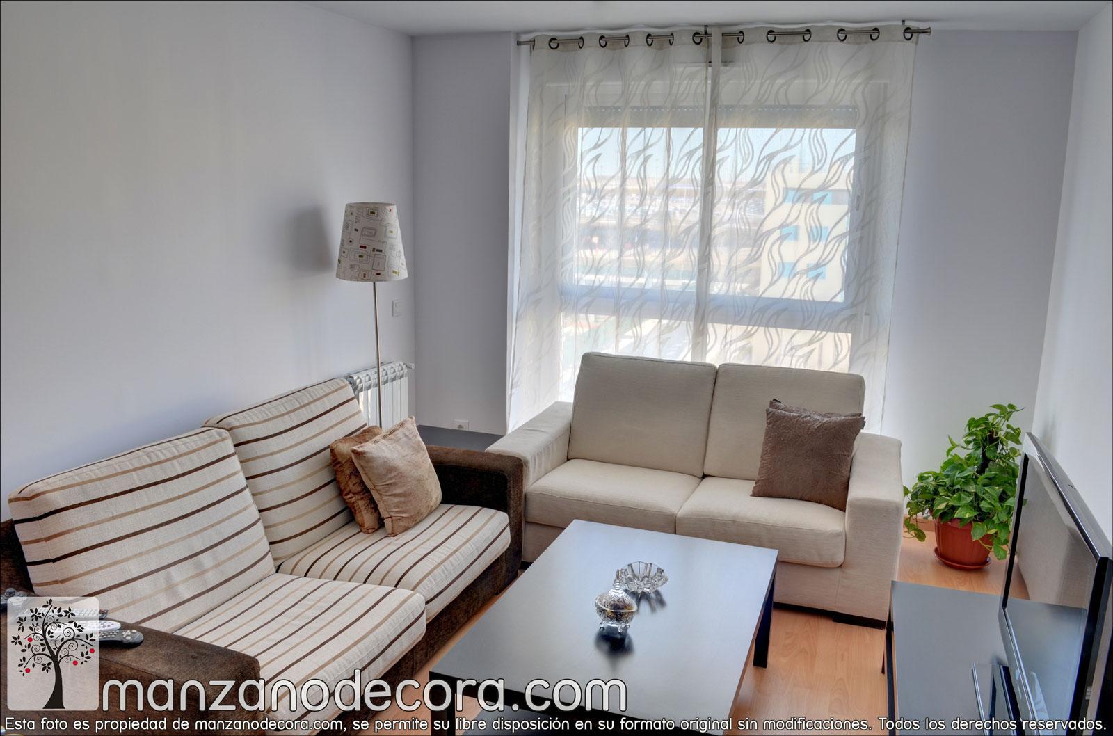 Cortinas cortinas manzanodecora for Cortinas cortas salon