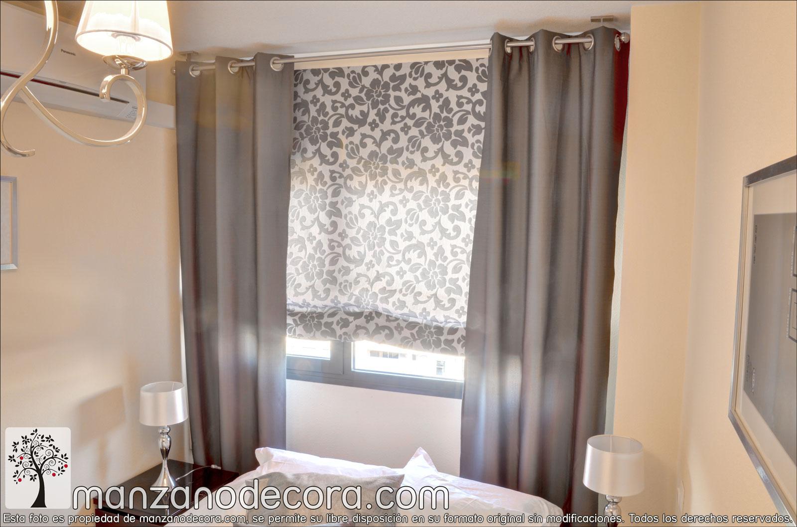 Cortinas cortinas manzanodecora - Cortinas con estores ...