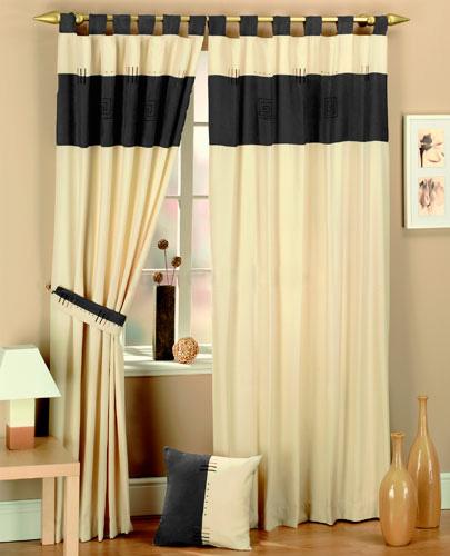 Como hacer cortinas con presillas y botones imagui for Telas para cortinas modernas