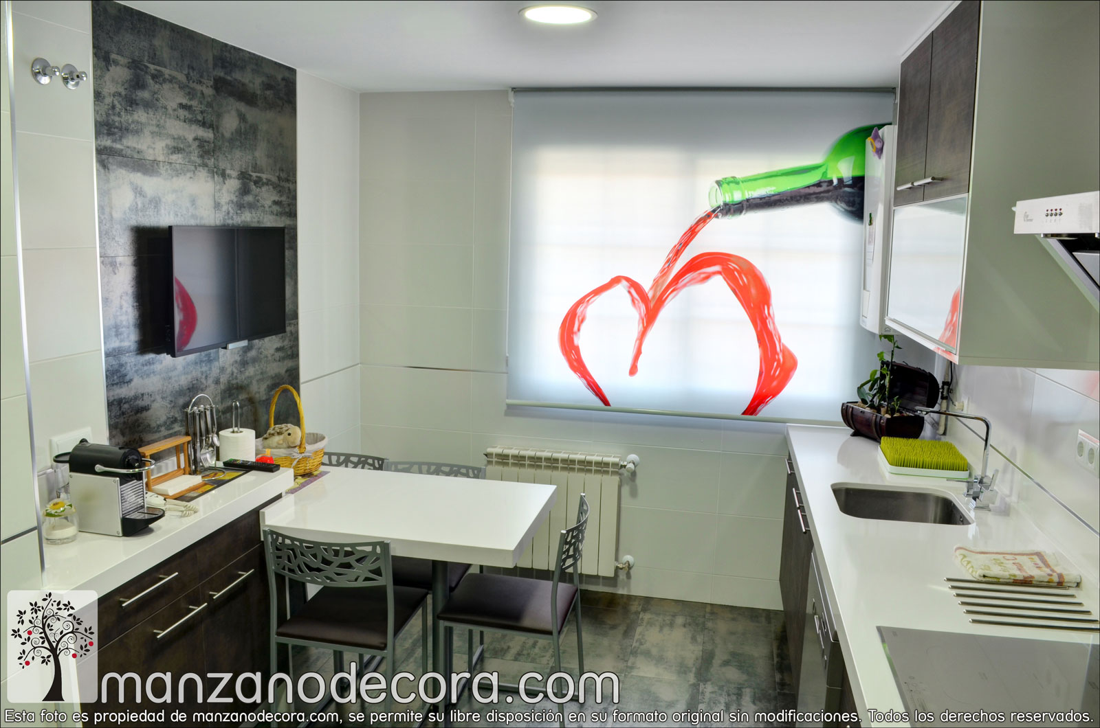 Estores enrollables cortinas manzanodecora - Stores de cocina ...