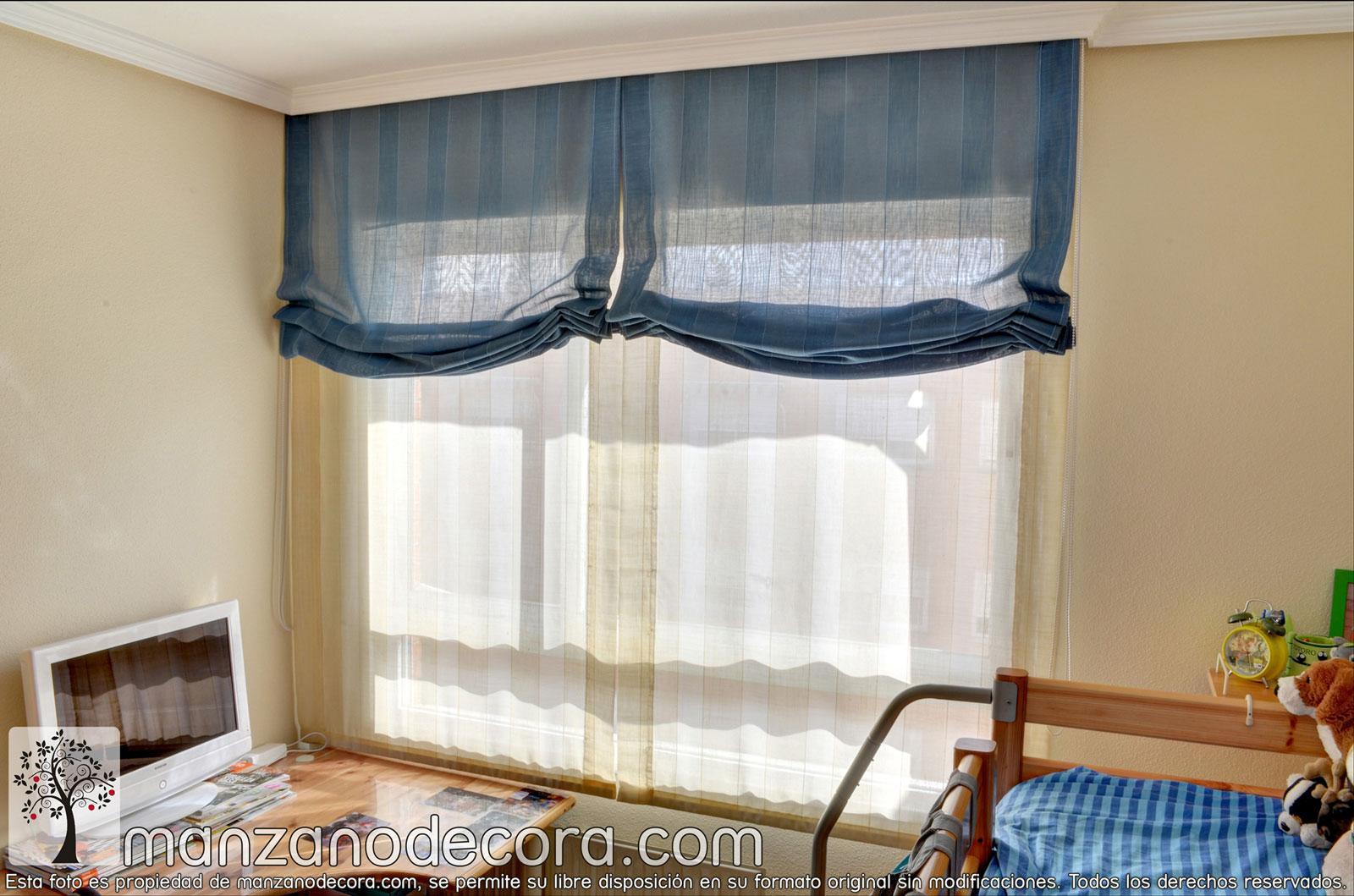 Estores cortinas manzanodecora - Confeccion de estores ...