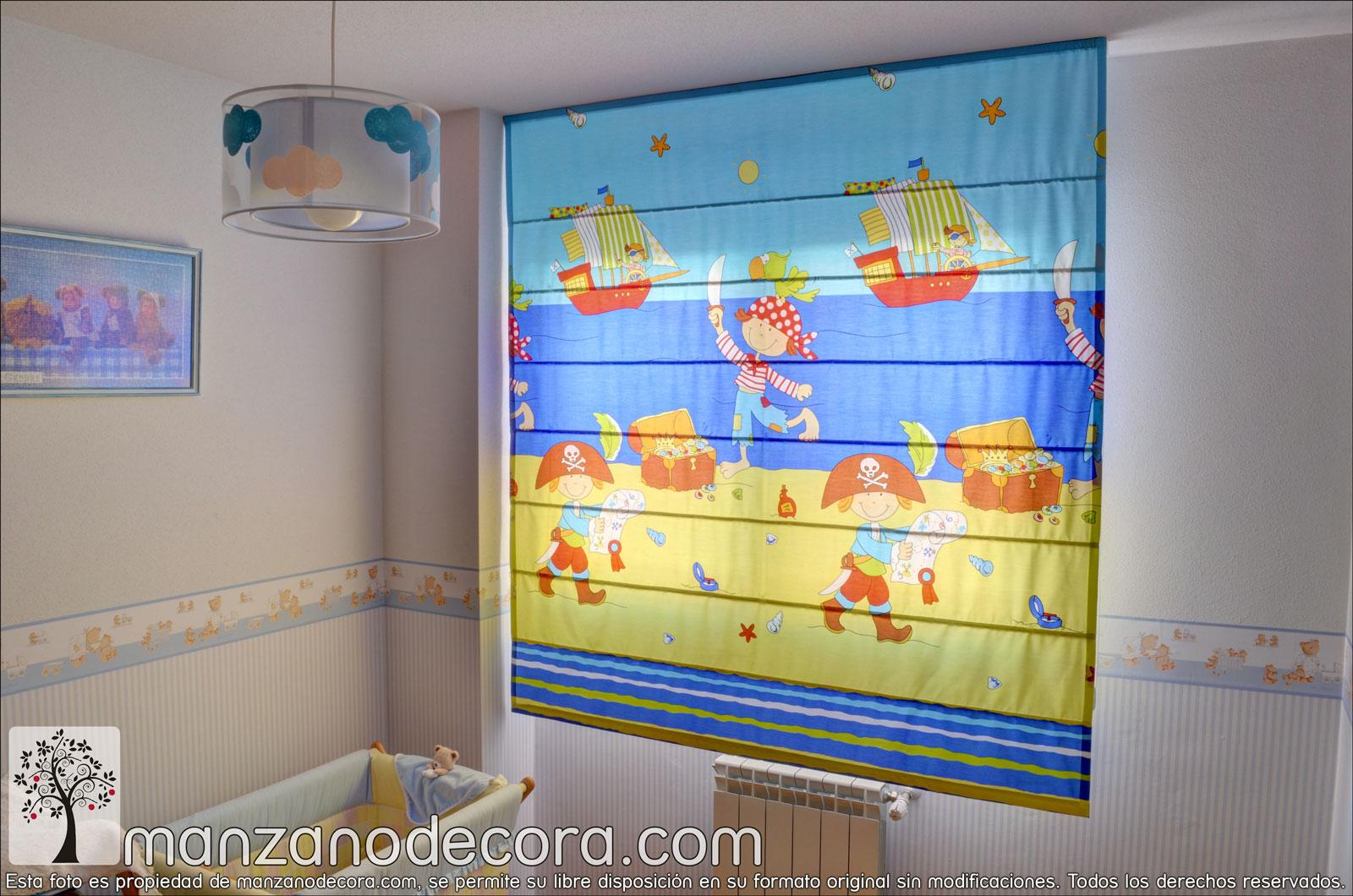 Estores de varillas cortinas manzanodecora - Cortinas para habitacion infantil ...