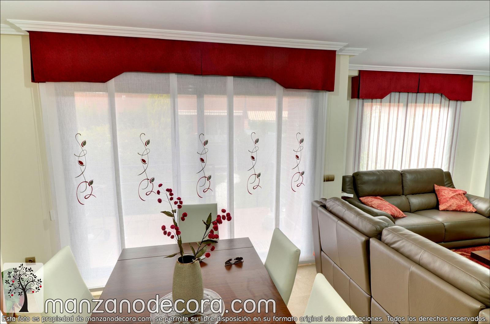 Paneles japoneses cortinas manzanodecora - Cortinas de paneles japoneses ...