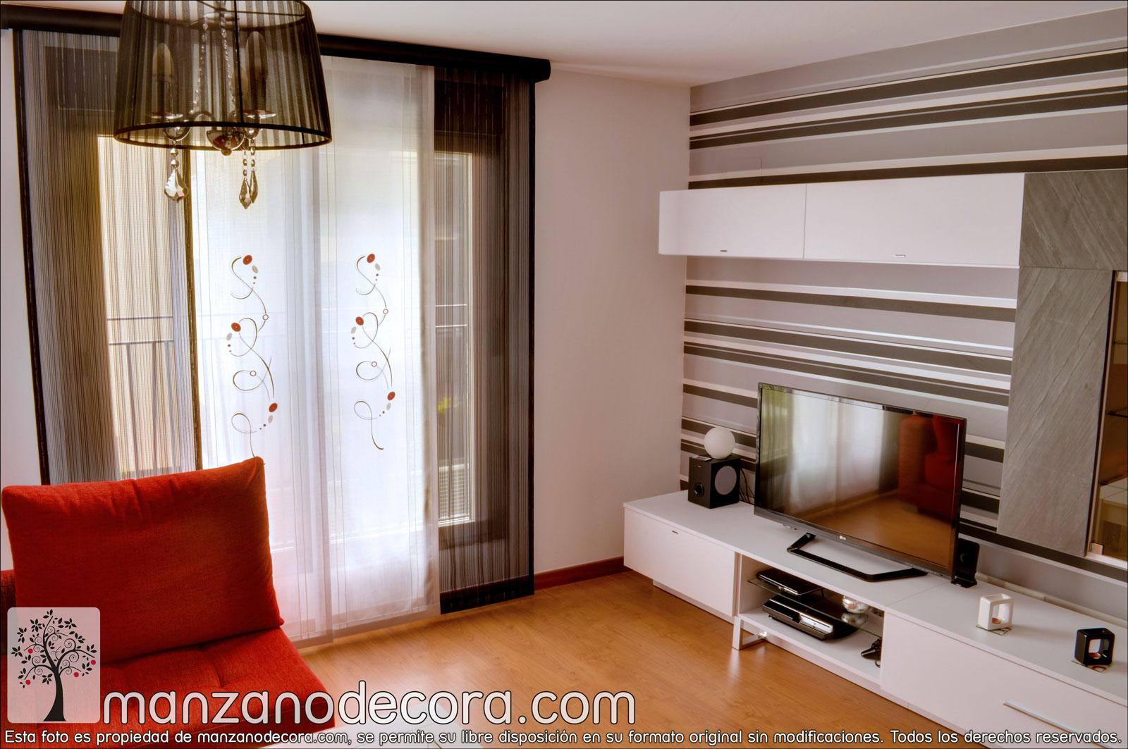 Paneles japoneses bordados cortinas manzanodecora - Paneles chinos cortinas ...