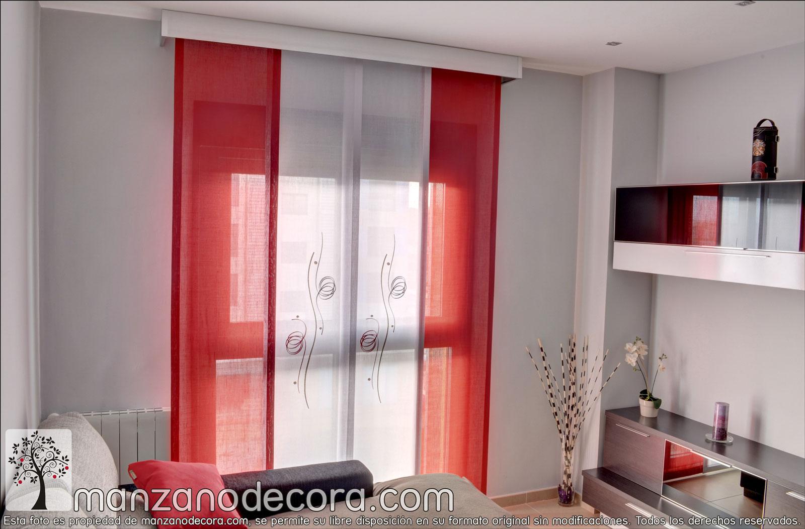 Paneles japoneses cortinas manzanodecora for Telas para paneles japoneses