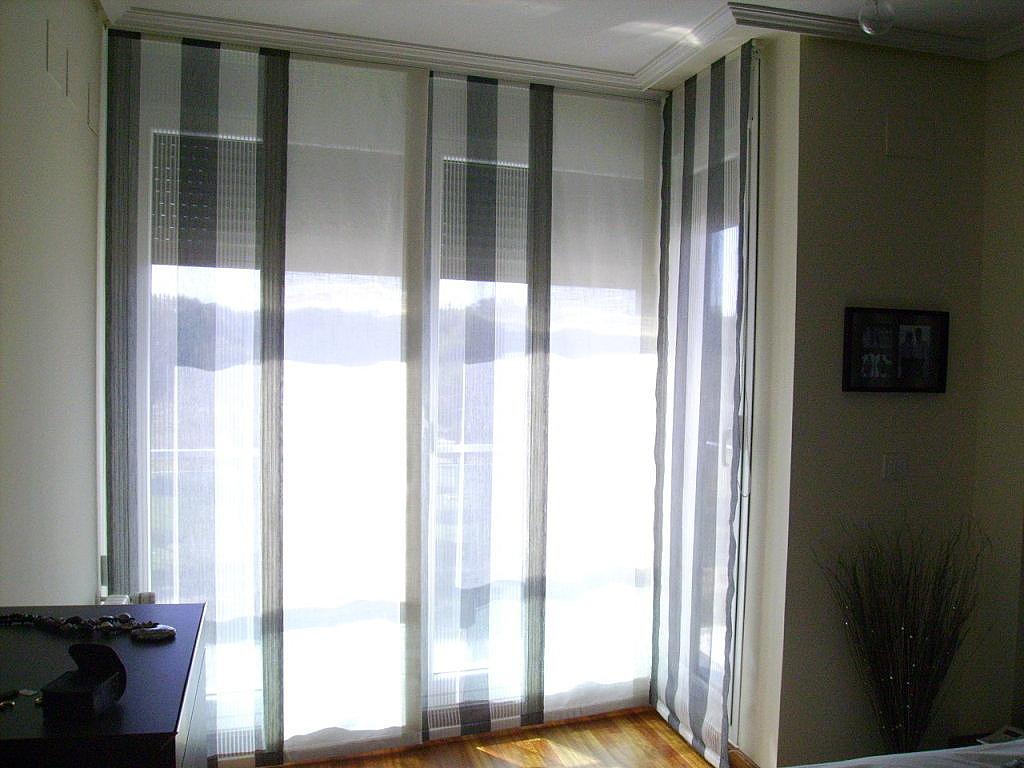 Paneles japoneses cuadros y rayas cortinas manzanodecora for Tipos de cortinas para salon