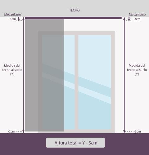 Medición-panel-japonés-altura-techo