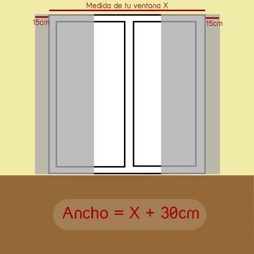 Como medir ancho de panel japonés