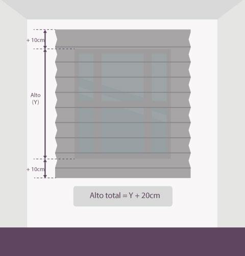 Medición-persiana-plisada-altura-pared