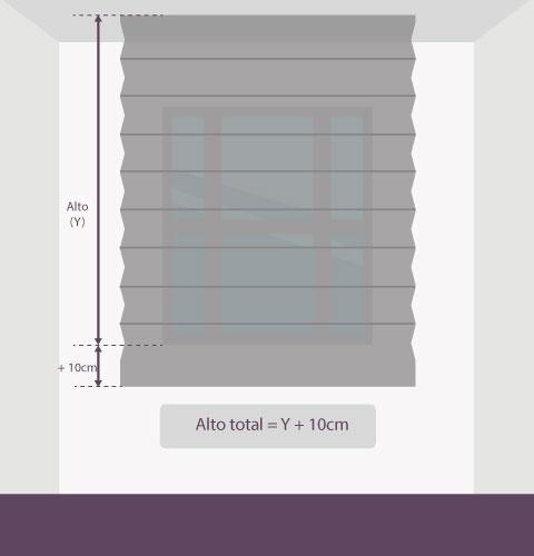 Medición-persiana-plisada-altura-techo