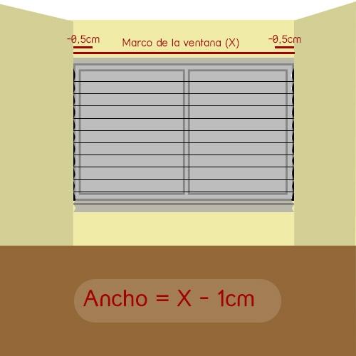 cómo medir ancho plisada encajada