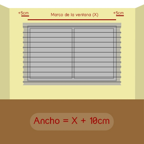 cómo medir ancho de plisada normal