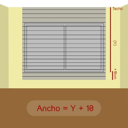 cómo medir alto veneciana a techo