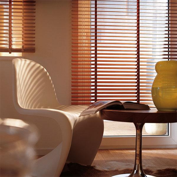 Persianas venecianas de madera cortinas manzanodecora - Persianas venecianas de madera ...