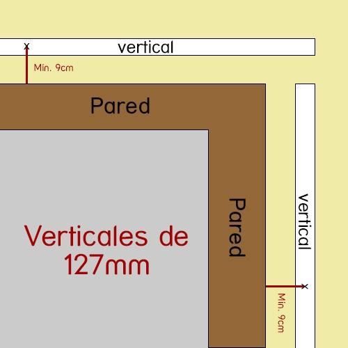 rinconera vertical 127mm